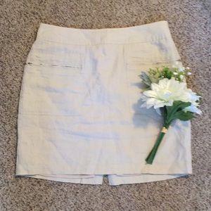 Lined Linen Skirt